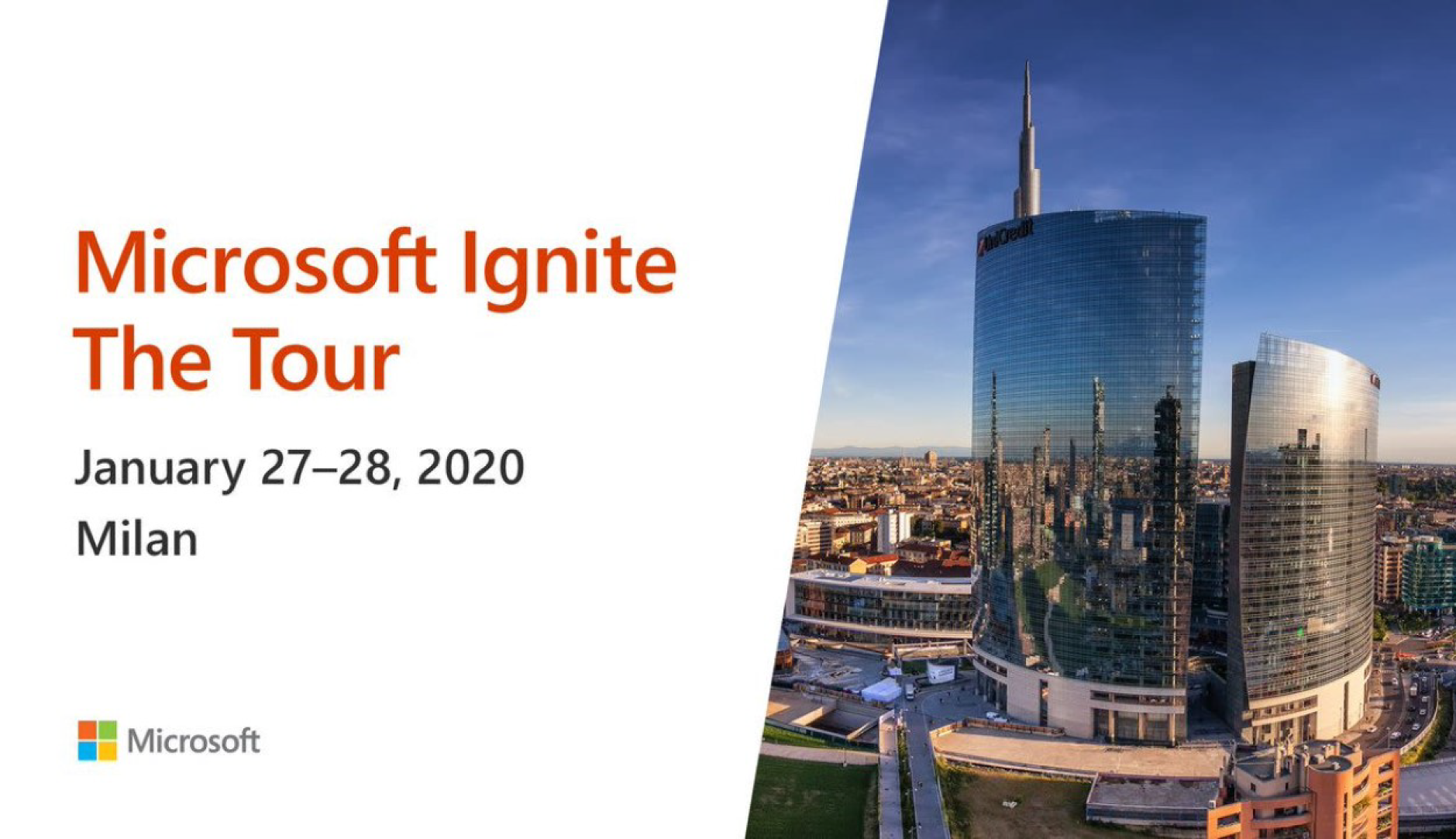 Microsoft Ignite The Tour 2020  Milan